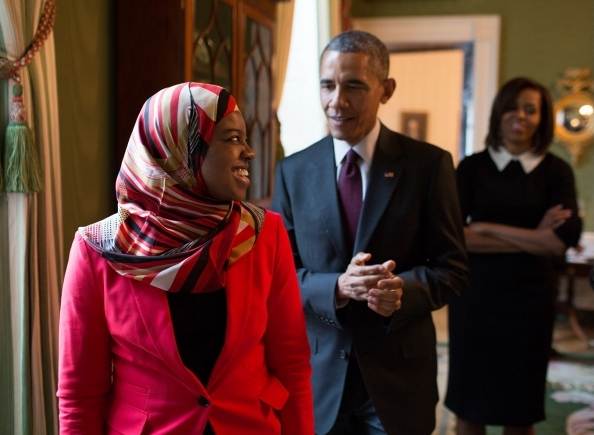 Saheela Ibraheem is a girl whom President Obama honored. She is making a video to support Equations of Peace, Girls Equal Math